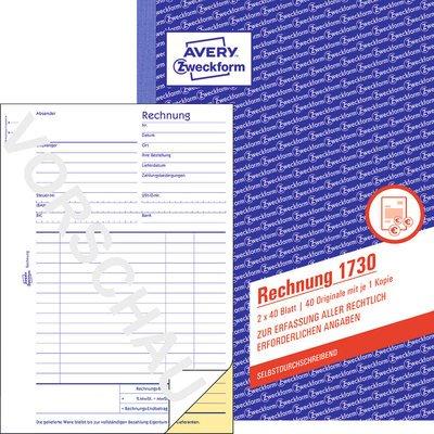 Rechnung Zweckform 1730 Bei Plate Büromaterial Onlineshop