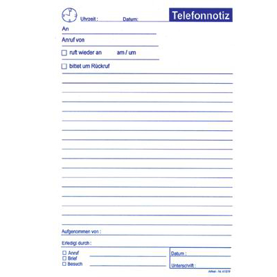 telefonnotizen