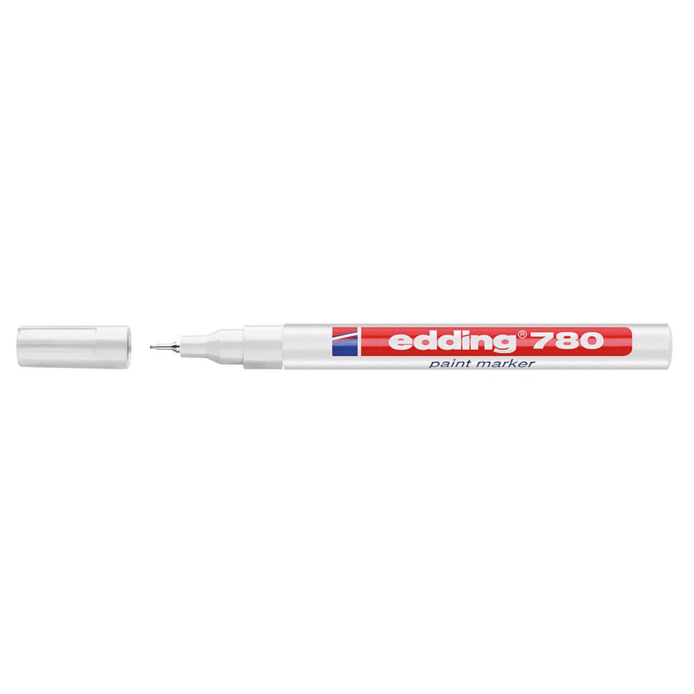 Edding 780 Lackmarker weiß metallgefasste Spitze ca 0,8 mm